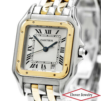 Cartier Panthere 18K Gold Stainless Steel Watch 66.7 Grams $8,050.00 NR