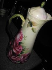 Antique Limoges Porcelain Tea Pot Coffee Chocolate Pot Hand Painted 12 inch