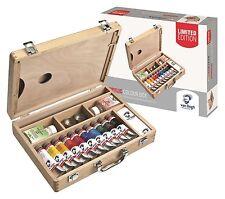 Colore ACRILICO Van Gogh in legno Box Set ARTISTI pitture Medium e Spazzole