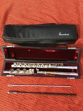KGM GEMEINHARDT SOLID SILVER OPEN HOLE FLUTE GOLD LIP 1206 EXC COND NO RESERVE