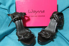 Wayne Cooper Black Leather Heels/Stilettos/Shoes Size 39 *REDUCED*Free Delivery
