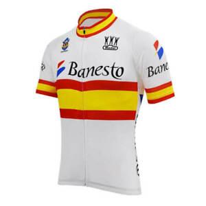 Banesto Spain cycling Short Sleeve Jersey Cycling Jersey