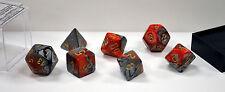 Dungeons & Dragons Fantasy 16mm 7 Piece Dice Set: Gemini Orange/Steel 26461