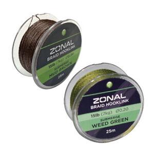 KODEX - ZONAL BRAID HOOKLINK - SUBMERGE - 25M - CARP & COARSE FISHING