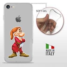 iPhone 7 TPU CASE COVER PROTETTIVA GEL TRASPARENTE Disney Brontolo 7 Nani
