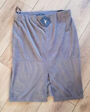 Ladies 'ATMOSPHERE' Brown suede feel elasticated skirt. UK 14. NEW.