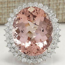 Rings Engagement Elegant Rings Size 6 Pretty Oval Cut Pink Sapphire 925 Silver