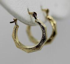 "Cute & Petite 14K Yellow Gold 1/2"" Hoop Earrings (0.33g)"