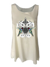 Hummingbirds print tank top shirt womens ladies vest floral birds singlets visit