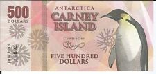 CARNEY ISLAND ANTARTIDA 500 DOLLARS 2016