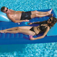 """Solstice 79""""L x 65""""W Swimming Pool Lake Face-2-Face 2 Person Lounger Float"""
