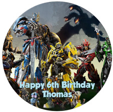 Personalised Transformers 19cm Edible Wafer Paper Cake Topper
