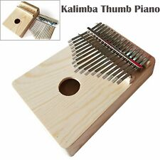 Percussion Gifts 17 Keys Kalimba African Mahogany Wooden Thumb Piano Finger VS