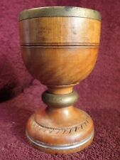 VINTAGE early 1900 WOOD GOBLET HOLY WINE CUP used in a SMALL ORTHODOX CHURCH