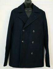 ASOS Peacoat With Buttons In MAVY for Men UK SIZE SMALL