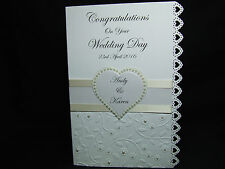 Personalised Congratulations on your Wedding Day/Engagement/Anniversary card