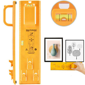 Frame Hanger Picture Wall Hanging Easy Tool Photo Hanging Kit Level Ruler Decor