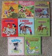 Eight (8) Whitman Tell-A-Tale Books HBs Illustrated Disney Sesame Street Horses