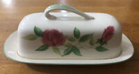 Vintage June Rose By Maruta Butter Dish Japan Hand Painted