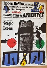 Once upon in America, Original 1st print, Polish Poster, Mlodozeniec, 27x38in
