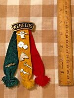 Vintage  Cub Boy Scout BSA Webelos colors ribbon - Includes 6 pins