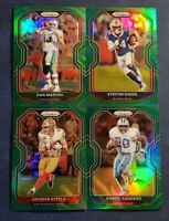 2020 Prizm Football Veteran GREEN PRIZMS Parallels w/ Legends Rookies You Pick