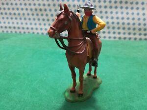 Cowboy IN Horse Old Wilde West - Elastolin 70 MM West W Germany