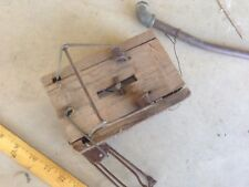 Lot of Antique Wood Metal MOUSE TRAP Primitive