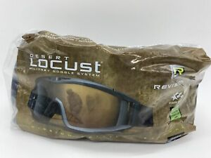 REVISION DESERT LOCUST MILITARY GOGGLES FOLIAGE GREEN SUN WIND DUST COMPLETE KIT