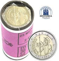 25 x Spanien 2 Euro Münze 2005 bfr. Don Quichote von Cervantes in Rolle