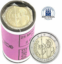 25 x Spanien 2 Euro Münze 2005 Don Quichote von Cervantes in Rolle
