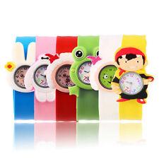 Fashion Animal Slap Snap On Silicone Wrist Watch Boys Girls Children Kids OV