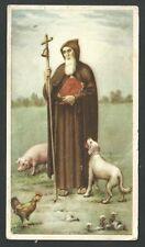 Estampa antigua de San Antonio Abad andachtsbild santino holy card santini
