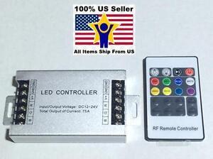 12V-24V DC 20Key 75A 900W  RF Remote Controller For RGB LED Strip 5050 3528 SMD