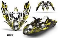 Bombardier Sea-Doo Spark 3Up Rotax Jet Ski Decal Wrap Graphics Kit 15-18 RB YLLW