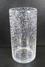 "Artland Clear Bubble Cooler 6 1/4"" Glass Tumbler"
