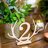 EE_ UK_ CREATIVE HOLLOWED ANTLER NUMBERS WOODEN DECORATION WEDDING TABLE PLATE S