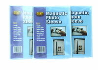 """Lot of 3 Magnetic 5"""" x 7"""" Photo Sleeves Insert Picture Reusable Holder"""