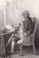 Portrait XIXe Louis XVI Roi de France Révolution Française Bourbon 1835