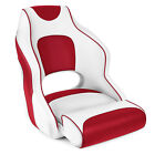 Leader Accessories Two Tone Captain's Bucket Seat White/Red,Red Piping