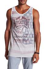 AFFLICTION Mens Shirt Genuine Whiskey Graphic Print Reversible Tank Top S NWT