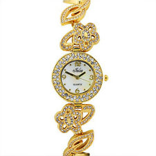 GORGEOUS IMPORTED SWAROVSKI CRYSTAL STAINLESS STEEL WOMEN BRACELET WATCH