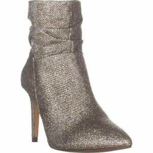 XOXO New Stunning-Sparkle Light Gold Ankle Booties Shoes 7