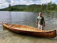 Handmade Birch Bark Canoe