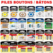 Pile Bouton SR Oxyde d'argent 1,55V : SR44 G13 357 A76 LR44 x1 5 10 20 50 ou 100