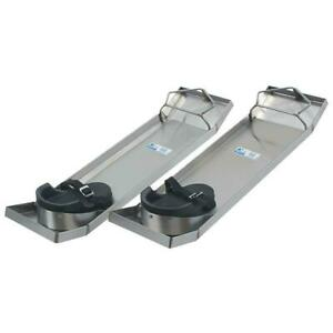 Kraft CC162 28x8 inch lightweight stainless steel Knee Boards - 2 Count