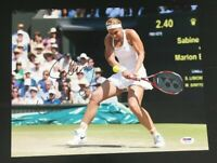 SABINE LISICKI Signed Auto 11x14 USTA Tennis Photo PSA/DNA Z61546