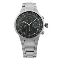 IWC GST Chronograph Titanium Day-Date Black Dial Automatic Mens Watch IW3707-03