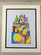 Original Modern Art Painting Geometric Shapes Bold Pop Art Vintage Retro
