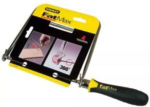 "Stanley Fatmax Coping Saw Fret 6.3/4"" Frame Depth Carpenter Wood Work STA015106"